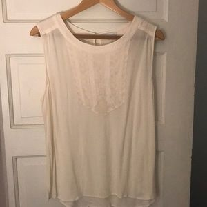 Cream/off white sleeveless top from Gap